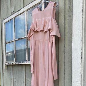 ASOS Maternity Pink Cold Shoulder Sleeve Dress